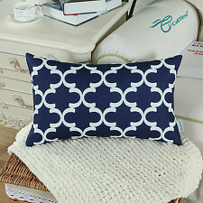 Cushion Covers Throw Pillows Shell Heavy Thick Solid Color Home Sofa Decor 45cm Navy 1pc - Cover/shell