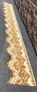 "Vintage Valance Fabric French Velvet Gold Tassels  186"" Hollywood Regency"