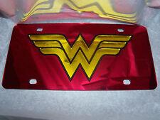 Wonder Woman  Mirror Laser License Plate Red/BlackYellow  NEW!!