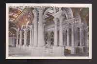 The Hall of Columns Library of Congress building design... WA DC white border pc