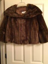 Women's Faux Fur Brown Coat Size S