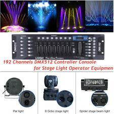 Lixada 192 Kanäle DMX512 Controller Konsole Bühnenlicht Party DJ Equipment DE