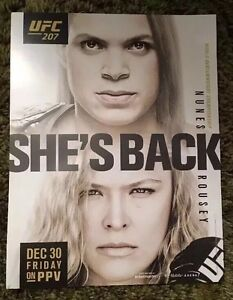"""UFC 207 ROUSEY VS NUNES PROMO POSTER COUNTER CARD Photo 8 1/2"""" X 11"""" Picture MMA"""