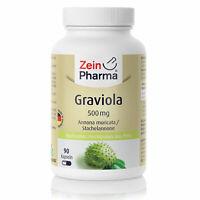 Graviola 90 Kapseln Tabletten Zellgesundheit hochdosiert 500mg ZeinPharma
