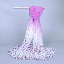 Summer Fashion Striped Scarves Leopard Beach Print Silk Chiffon Scarf Shawl