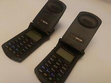Vintage Black MOTOROLA STARTAC Flip Cell Phones Set of 2