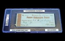 Autograph 1893 Thomas Nast PSA/DNA Grade MT 9 Check Signed Dated July 14 DS 4