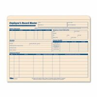 """Tops Employee Record Master File Jacket - Letter - 9.50"""" X 11.75"""", 8.50"""" X 11"""" -"""