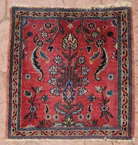 Antique Farahan Sarouk Small Mat Prayer Rug Oriental Carpet tribal hand knotted