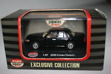 "Model Power:  1:87 Scale ""2005 Crown Victoria Black/Tan Item No:19392"