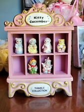 Schmid Kitty cucumber Thimble Collection With Musical Display
