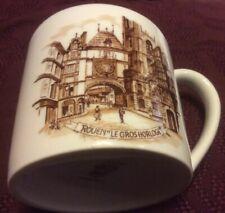 Vintage Porcelaine France Castelroux Mug Rouen Les Gros Horloge