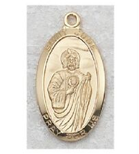 Gold & Sterling Silver St Jude Religious Catholic Medal Chain Pendant Christian