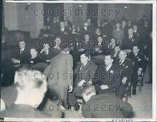 1934 Gangster Roger Touhy Trial Chicago Albert Kator Gus Schaefer Press Photo