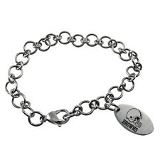 NFL * Cleveland Browns * Stainless Steel Charm Bracelet Logo Dangle  Jewelry New