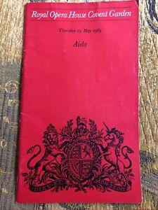 Verdi Aida Opera Programme 1969 Martina Arroyo, Grace Bumbry, Charles Mackerras