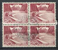 Switzerland 1949 Mi. 533 Used 100% Block of four Landscapes