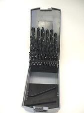 25 PIECE METRIC DRILL BIT SET HIGH SPEED STEEL 1 - 13mm, BY .5mm INCREMENTS