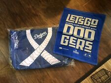 Los Angeles Dodgers World Series Towel And Breast Cancer Tote Bag