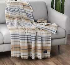 Pendleton Goldendale Plaid 3-Piece Travel Set Camel Unbelievably Soft Throw New