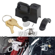 "Motor Helmet Lock Anti-theft for 7/8"" 22mm engine guards tubes 45732-86 Black"