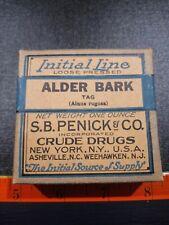 Vintage Alder Bark Crude Drugs Box. Contents.
