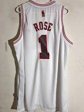 be646c492 Adidas Swingman NBA Jersey Chicago Bulls Derrick Rose White Reverse Static  sz 2X