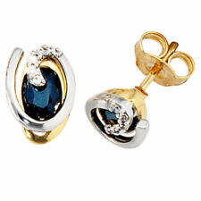 Diamant Ohrschmuck im Ohrstecker-Stil aus Weißgold mit echten Edelsteinen