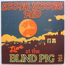 BOOGIE WOOGIE RED: Live at Blind Pig BLUES vinyl lp RARE VG++