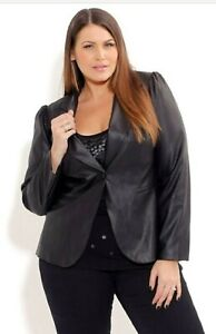 BNWT City Chic Black Miss Jagger Jacket Size S 16 - 18