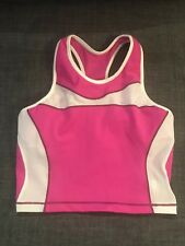 DeSoto Womens Triathlon tri bra crop top femme Hot Pink ~ cute back~ Small