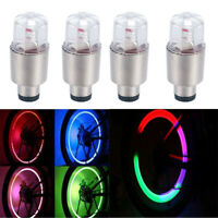 4Pcs LED Wheel Tire Tyre Valve Caps Colorful Neon Light for Car Bike Motorcycle