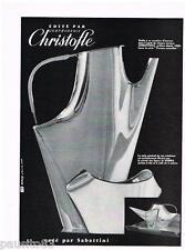 PUBLICITE ADVERTISING 105  1958  CHRISTOFLE art table REBOUL crée SABATTINI