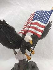 Proud Independence Eagle Sculpture U.S.A American Flag By Ted Blaylock Bradford