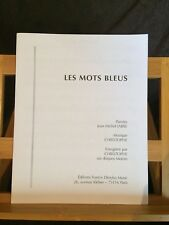 Les Mots bleus Christophe Jean-Michel Jarre partition chant piano accords