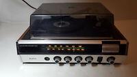 RARE Vintage BRADFORD  record player turntable & Radio HIFI STEREOPHONIC