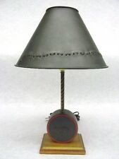60% off Small desk lamp with Antique tin Patch shade Primitive Country Rustic