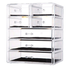 Big Cosmetics Makeup Jewelry Storage Case Display Holder Organizer Drawer Box