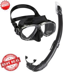 Cressi Swimming Diving Face Scuba Mask Snorkel Set Adult Dive Equipment Goggles