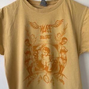 Jerzees Yellow T-Shirt Size S Cherub Snakes Ladies Belfast Graphic