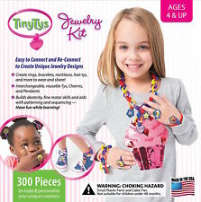 TinyTys Deluxe Jewelry Kit 300 Pieces Toy Made in USA!