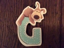 BNWT New Boofle Bear Wooden Alphabet Hanging Plaque Letter G