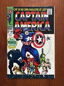 Captain America #100 Premiere Issue (1967) VF 8.0 🔥HIGH GRADE🔥 Sweet Copy!