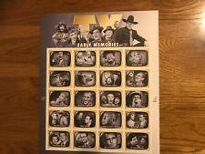 TV Early Memories Mini Stamp Sheet- USA