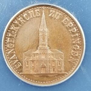 German States Baden Medallic Kreuzer 1879 Eppingen Church ANACS MS-62RB rare