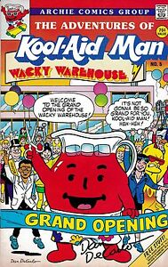 THE ADVENTURES OF KOOL-AID MAN NUMBER 5 1988 PROMO COMIC SIGNED BY DAN DECARLO