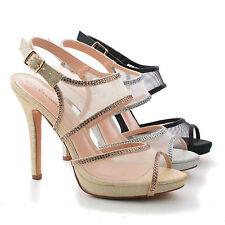 f27b4e30e988bb Shuz1 Mesh   Rhinestone Studded Strappy Stiletto Slingback Dress Sandals