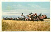 California 24 Horse Power Harvester San Joaquin Valley C-1910 Postcard 8549