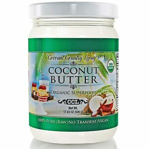 Organic Coconut Butter 2 Pack 17.6 oz each Stone Ground Pureed w/ E-Book