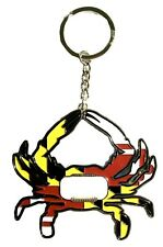 Maryland Crab Flag Design Bottle Opener Metal Keychain
